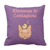 Kindness Is Contagious Throw Pillow