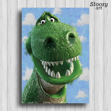 toy story print rex dinosaur room toy story party disney print