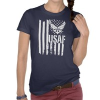 USAF American Flag Shirts from Zazzle.com