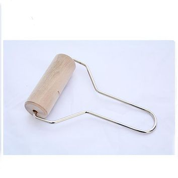 Wood Sculpey Roller Pin Stamping Brayer Polymer Clay For Fimo Rolling Tool Kitchen Tool Clay Tools Practical