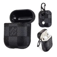 Black Damier AirPods Leather Case - Apple Specific