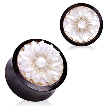 Organic Sono wood with Mother of Pearl Lotus Plug