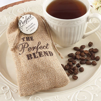 Country Coffee Themed Burlap Favor Bag