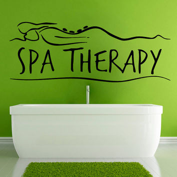 Wall Decals Vinyl Decal Spa Therapy Woman Girl Fashion People Spa Beauty Salon Home Vinyl Decal Sticker Kids Nursery Baby Room Decor kk100