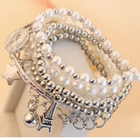 Hot Sale Awesome Stylish New Arrival Great Deal Shiny Gift Vintage Pearls Set Bangle Bracelet [6044172289]