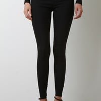 Black High Waisted Fitted Pants