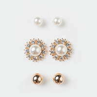 Amelia Pearl Earrings Set