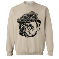 Pug Hooligan Sweater Flex Fleece Pullover Classic Sweatshirt - S M L XL and XXL (14 Color Options)