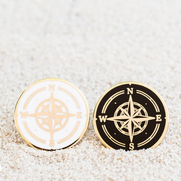 Find Your Own Way // Compass Enamel Pin