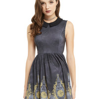 Disney Peter Pan Big Ben Border Print Dress