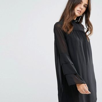 Brave Soul Sheer Dress at asos.com