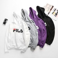 """Fila"" Casual Fashion Letter Print Lover Thickened Cotton Sweatshirt Hoodie Sweater"