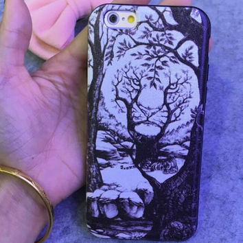 Visual Effects Tiger Case Cover for iphone 6 6s Plus Gift 216