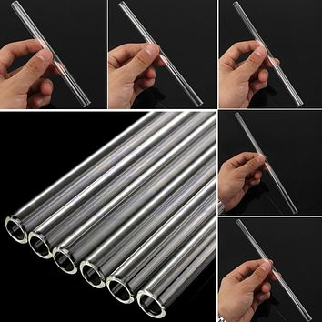 S-home New Clear Glass 10mm Reusable Wedding Birthday Party Drinking Straws Thick Straws MAR18