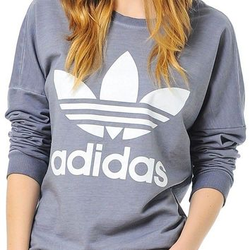adidas Originals Womens Washed Sweater - Grey