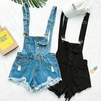 Women's Vogue Denim Short Romper