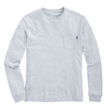 Vineyard Vines Long Sleeve Slub Tee- Heather Grey