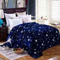 Bright Star Blue Pattern Blanket