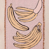 Calhoun & Co. Bananas! Jacquard Woven Throw Blanket | Urban Outfitters