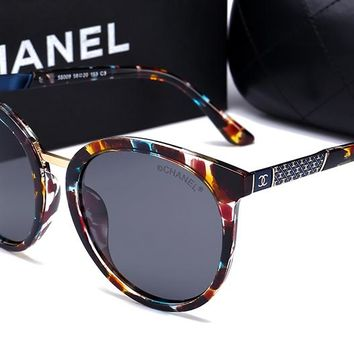 Chanel women's trendy fashion brand beautiful sunglasses F-HWYMSH-YJ #3