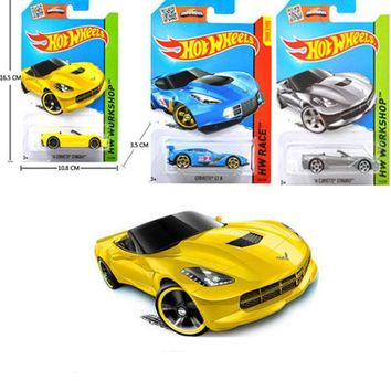 ICIK272 1 PCS Hot Wheels Car 100% Original Basic Car Toy Mini Alloy Collectible Model HotWheels Cars Toy For Children C4982 Sent Random