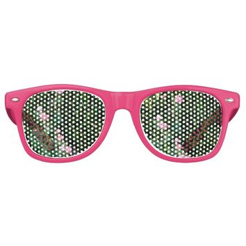 PINK LITTLE FLOWERS RETRO SUNGLASSES