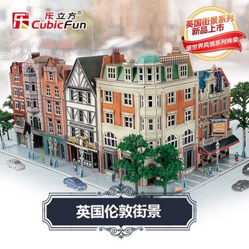 candice guo! cubicfun 3D puzzle DIY paper model Architecture UK London city Street View buildings creative birthday gift 1pc