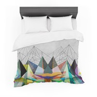 "Mareike Boehmer ""Colorflash 3X"" Grey Rainbow Featherweight Duvet Cover"