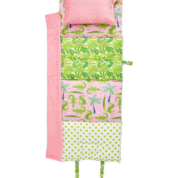 Pink Gator Play Personalized Nap Mat