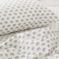 Magical Thinking Woodblock Elephant Fitted Sheet - Urban Outfitters