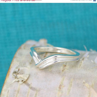SALE Chevron Ring - Geometric Design - Chevron Design - Silver Chevron Ring - Sterling Chevron - Chevron Jewelry - Geometric Ring