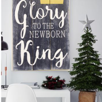 Glory To The Newborn King Wood Pallet Christmas Decor