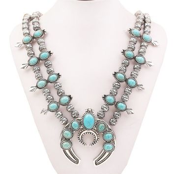 Tibetan style Turquoise Necklaces  statement vintage resins  Synthetic