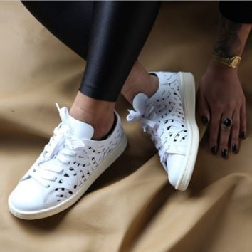 Adidas Stan Smith Cutout Hollow Leisure Sneakers 1cbc10957