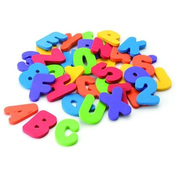 Bath toy 36 Numbers and letters Recognize Educational toy In the Water bath toys for children kids