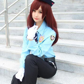 2017 NEW Game Watch The Vanguard DVA Cosplay Police Officer Clothes Girl Uniform Suit Halloween Carnival Party Costumes