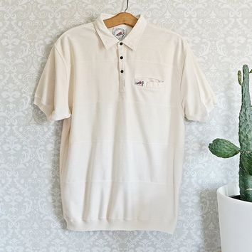 Vintage 1980s Panel + Golf Polo Shirt