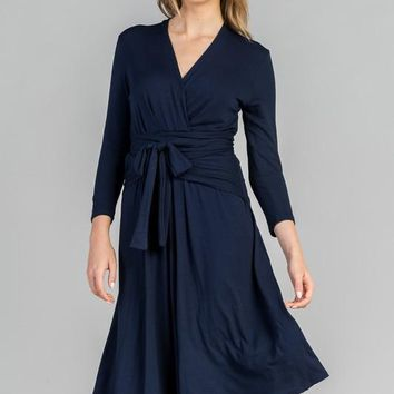 """Alex"" Midi Wrap Dress [ Five Colors ]"