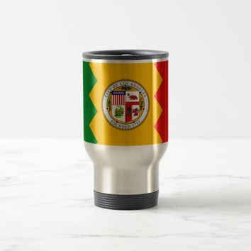 Travel Mug with Flag of Los Angeles, California