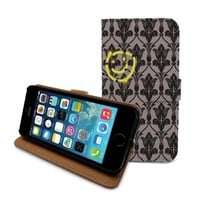 Beanbeancase Sherlock 221b Baker Smiley Flip Pu Leather Cover Case for iPhone 6 Plus (E64)