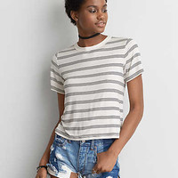 AEO Soft & Sexy Shrunken T-Shirt , Red