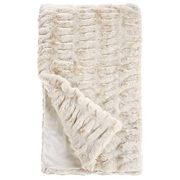 Ivory Mink Couture Faux Fur Throw Blanket by Fabulous Furs