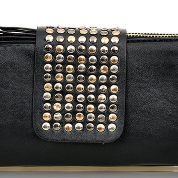 Korean Rivet Double-layered Bags [6582902983]