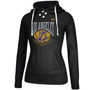 Women's Los Angeles Lakers adidas Black Ballin Pullover Hoodie