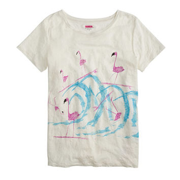 Donald Robertson For J.Crew Surfing Flamingos T-Shirt