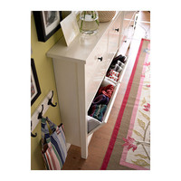 HEMNES Shoe cabinet with 4 comparment - white, 42 1/8x39 3/4
