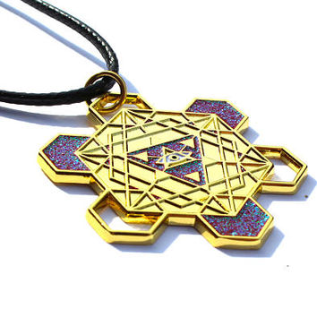 All Seeing Eye Pendant - Hippie Sacred Geometry Music Festival