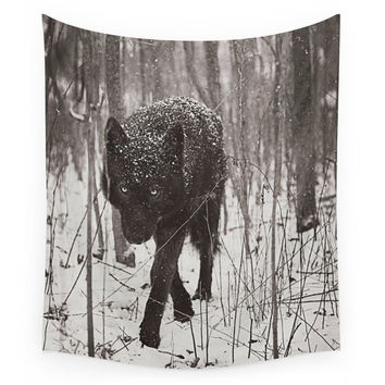Society6 Snow Wolf Wall Tapestry
