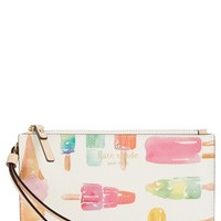 kate spade new york 'cedar street - slim bee' ice pop print wristlet | Nordstrom