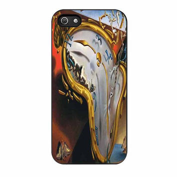 salvador dali soft watch melting clock cases for iphone se 5 5s 5c 4 4s 6 6s plus